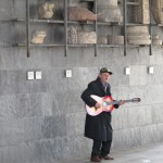 An old street artist - he was moved on by the police just after I took this