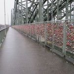 Lover's locks - they're estimated to weigh over two tonnes!