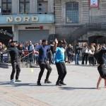 Break dancing in the street