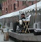 Dave Earl, street blues performer, Fishermans Wharf