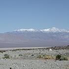 Sierra Nevada mountains from the desert
